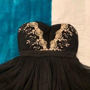 Black & Gold Ballerina Inspired Dress